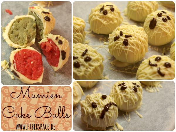 Mumien Cake Balls für Halloween