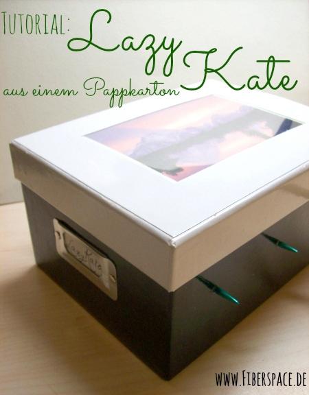 Bauanleitung für eine Lazy Kate aus einem Pappkarton