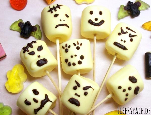 Süßigkeit für Halloween: Rezept für Marshmallow- Monster und Schaumkuss-Geister